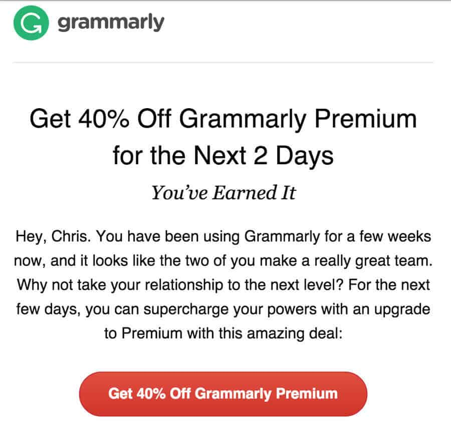 Business promotional emails