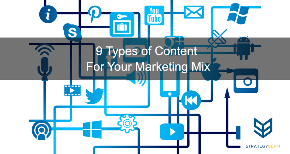 business content strategy understand content types marketing mix