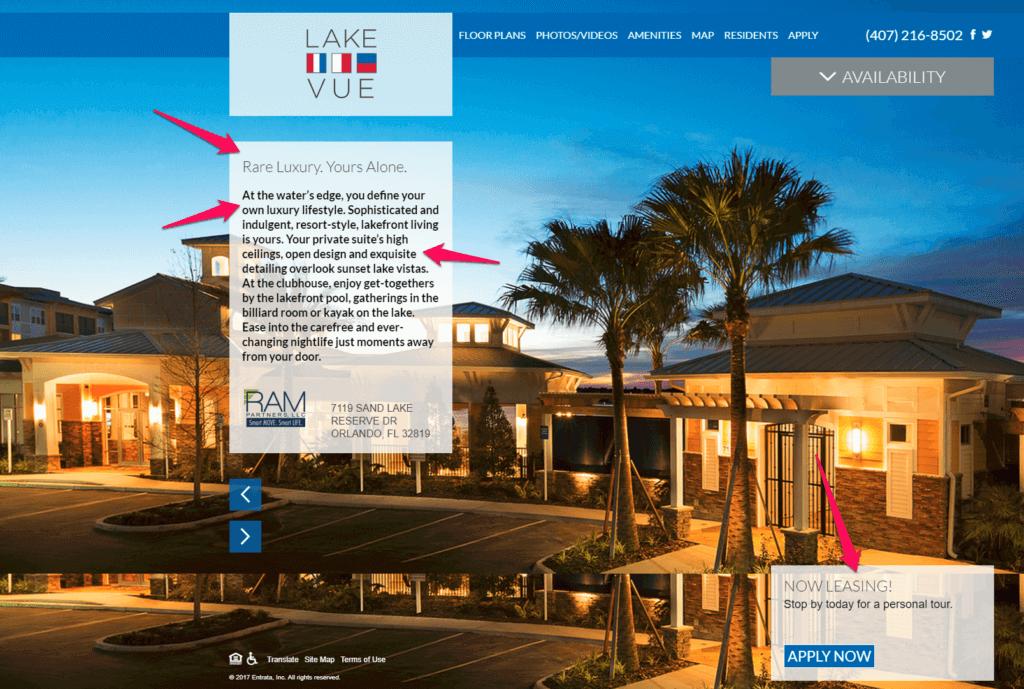 apartment marketing landing page online marketing apartment marketing tips