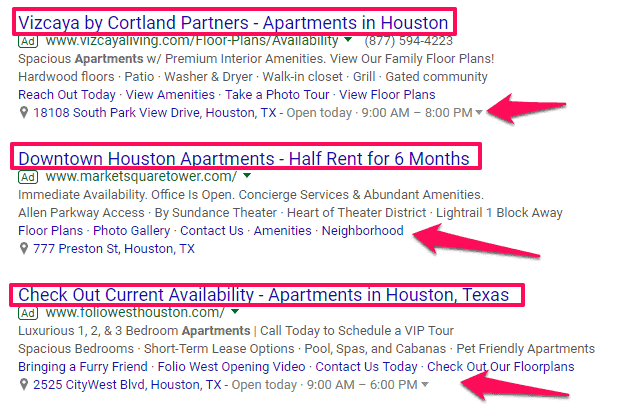 apartment ppc marketing listings Google AdWords more renters PPC marketing apartment