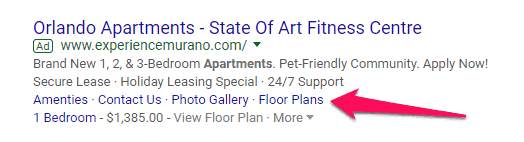 apartment marketing online PPC marketing tips marketing apartment AdWords more tenants online marketing PPC AdWords ad extensions sitelinks