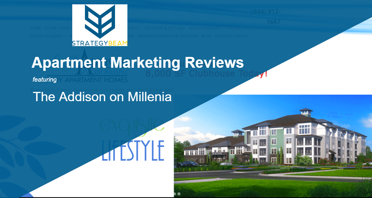 Apartment marketing reviews addison on millennial for Apartment marketing plans