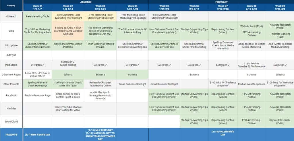 seo marketing content marketing content calendar planning content calendar seo marketing success