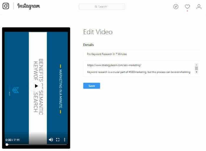 tips to optimize igtv video get found on igtv tips igtv edit uploaded vidoes instagram tv optimization tips