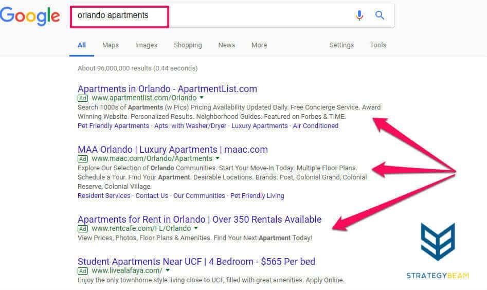 google ads apartment marketing ideas