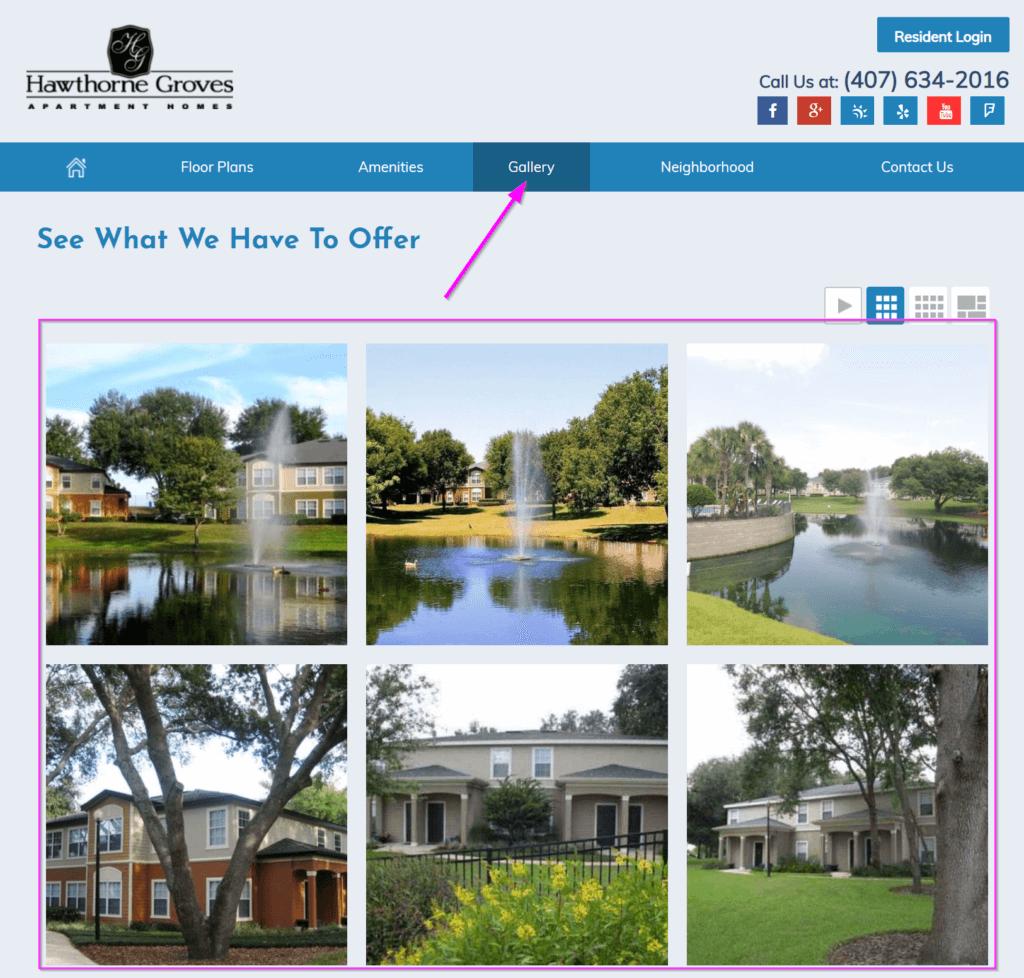 apartment website design photo gallery online marketing apartment design website