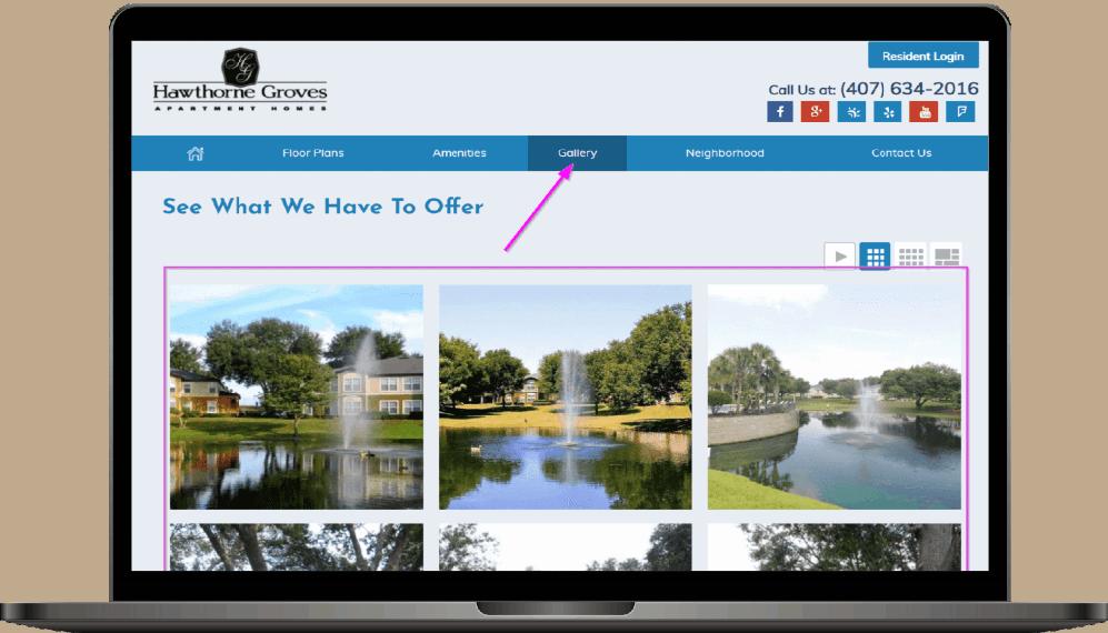 apartment complex website design tips
