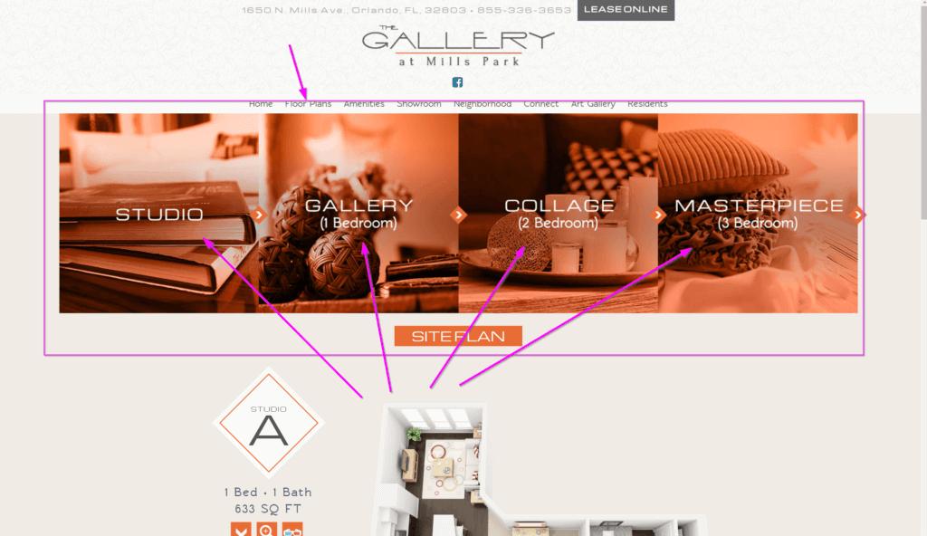 apartment website design floor plan apartment marketing