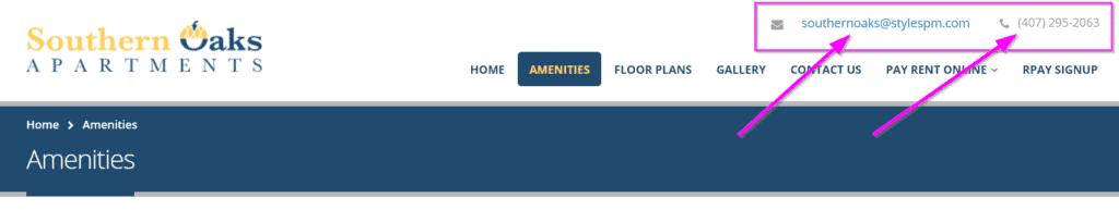 apartment website design nap visibility apartment marketing website tips