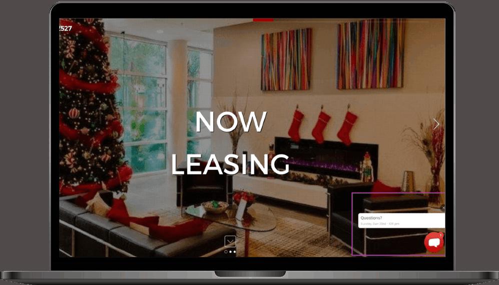 website apartment complex live chat