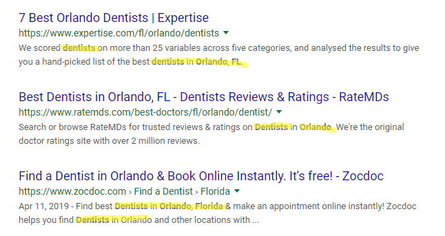 local page meta description local seo