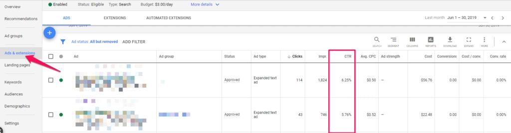 ctr google management adwords campaign management
