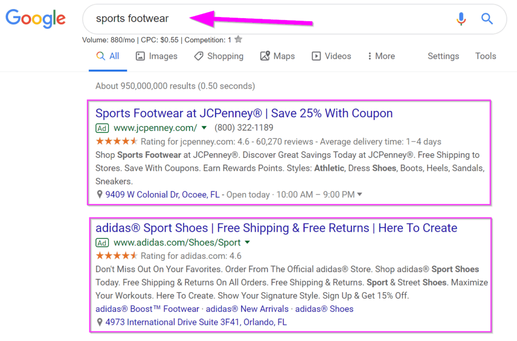 e-commerce marketing google ads