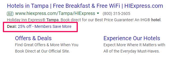 promotion extension google adwords management