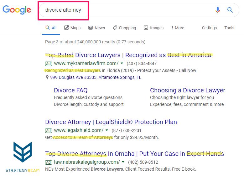 google adwords text ad copywriting benefits strategybeam.com