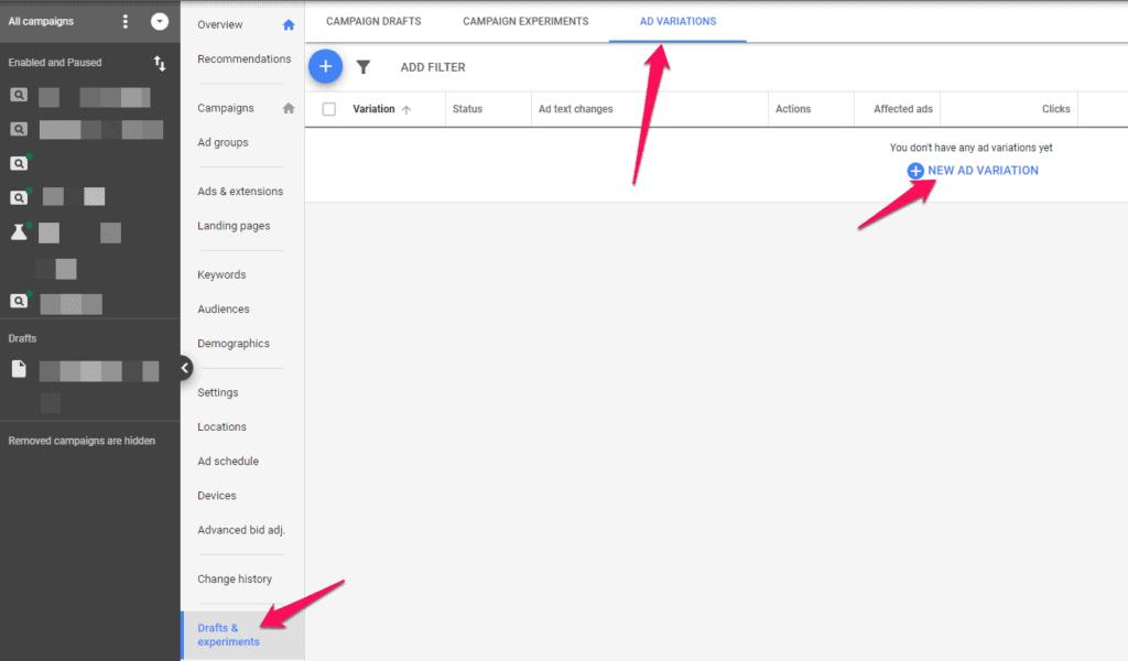 google adwords ad text copywriting tests experiments strategybeam.com