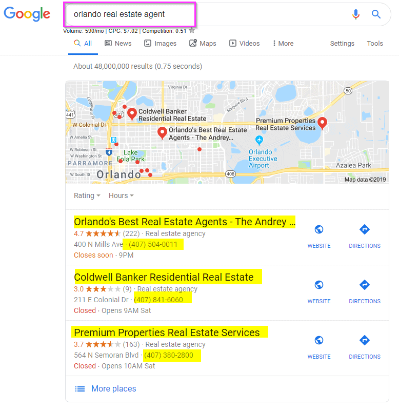 local seo real estate marketing nap