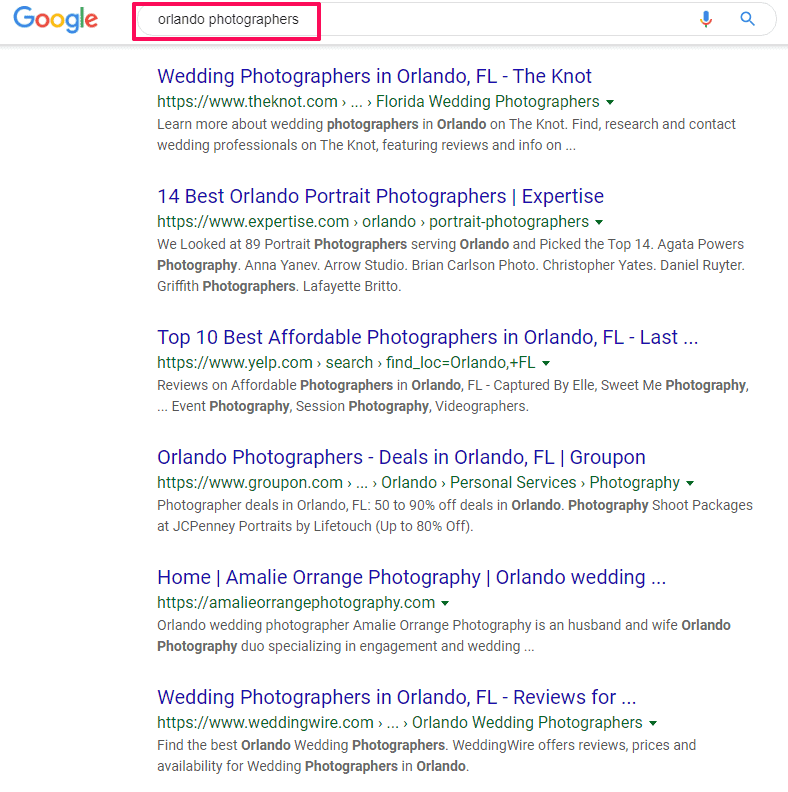 photography marketing keyword research