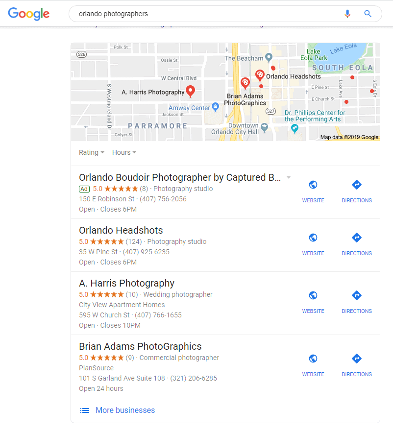 photography marketing local seo gmb