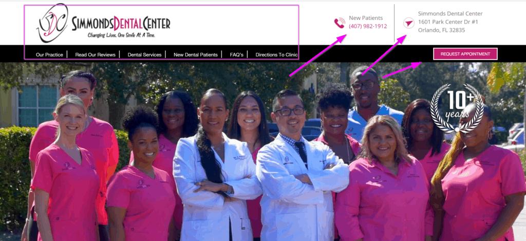 dental internet marketing website design