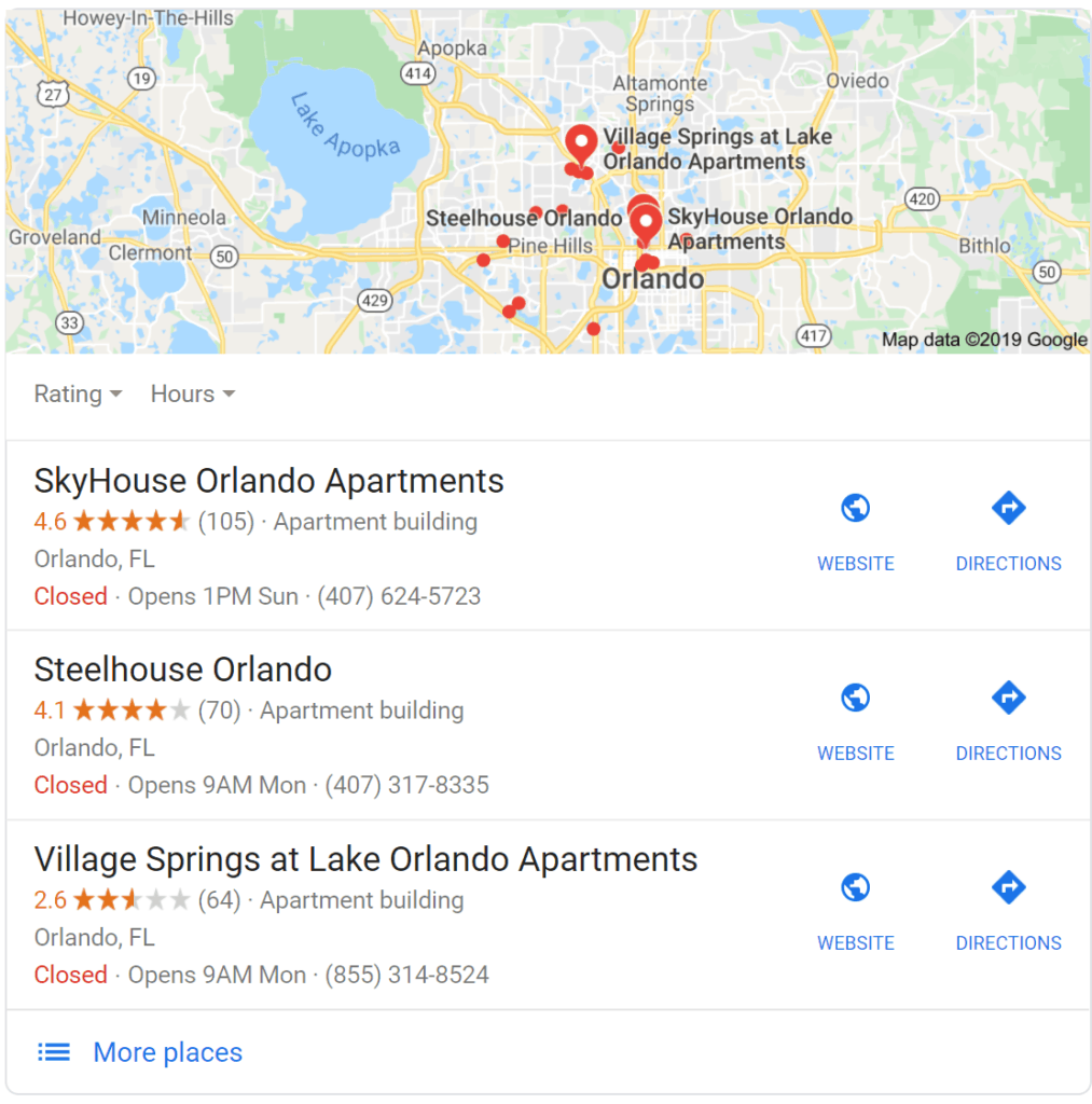 local seo apartment marketing