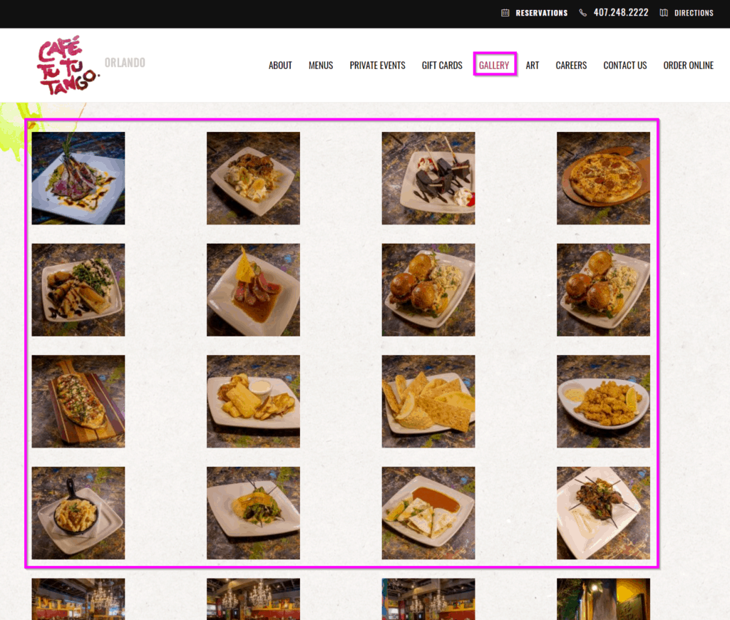 websites for restaurants high-quality images restaurant website tips