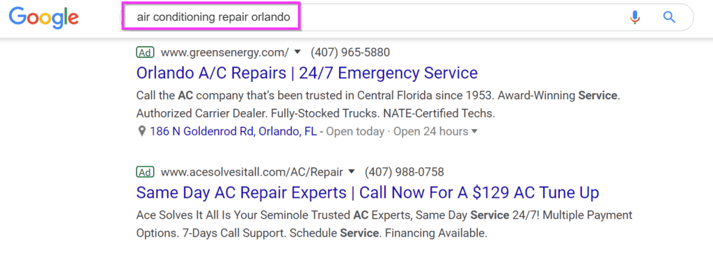 hvac marketing ideas google ads