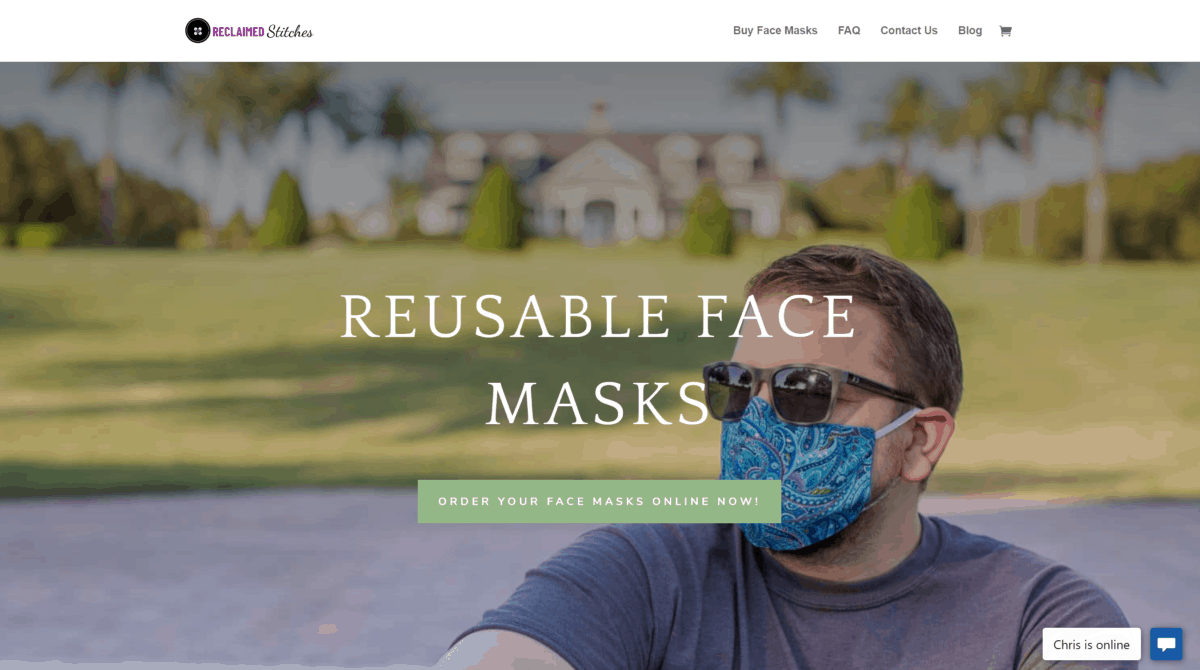 reclaimed stitches buy face masks online