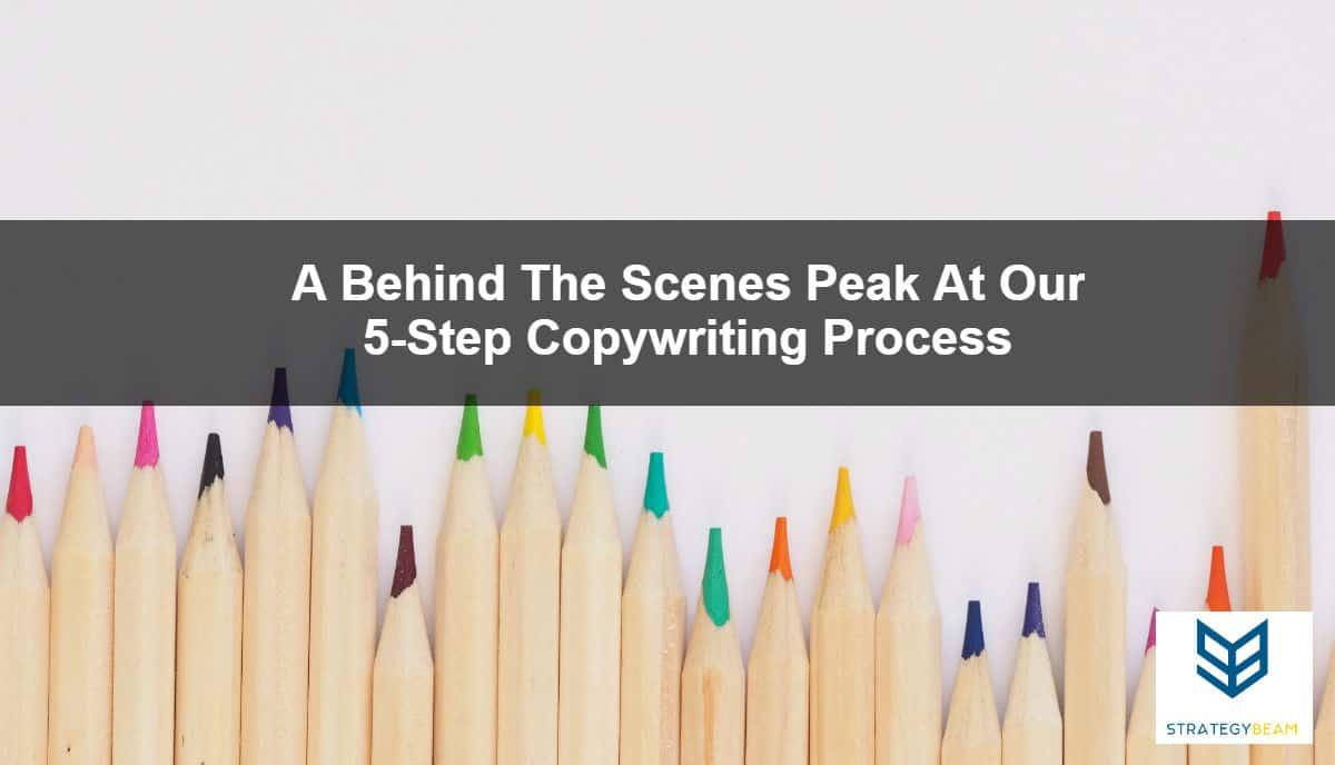 copywriting process our steps for copywriting process strategybeam