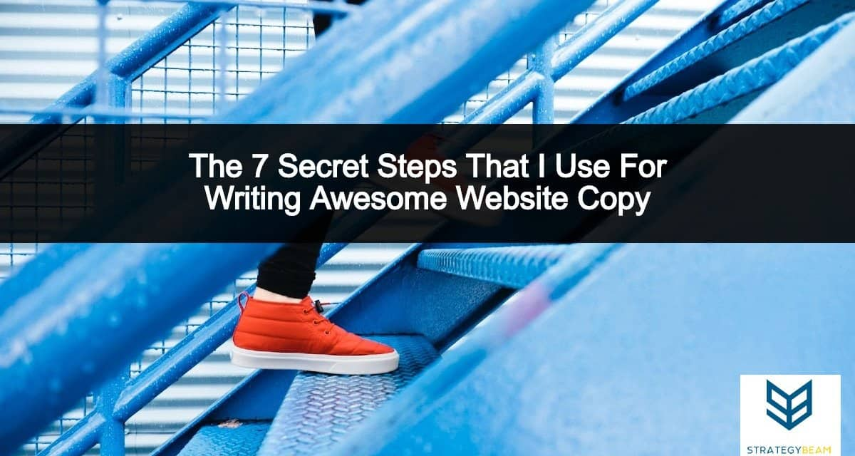 7 steps for writing awesome website copy