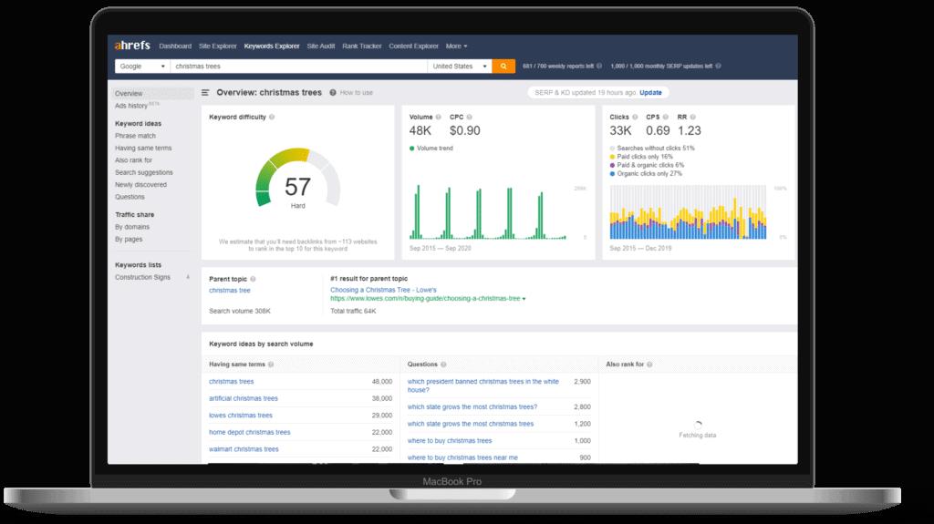 content marketing tools ahrefs strategybeam