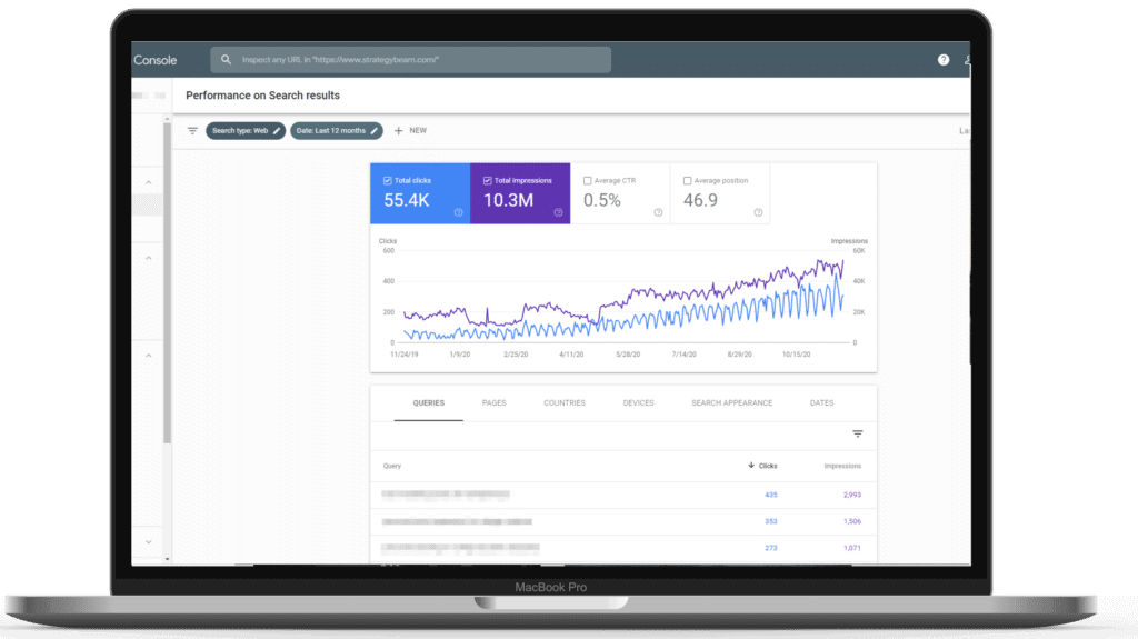 content optimization tools google search console strategybeam