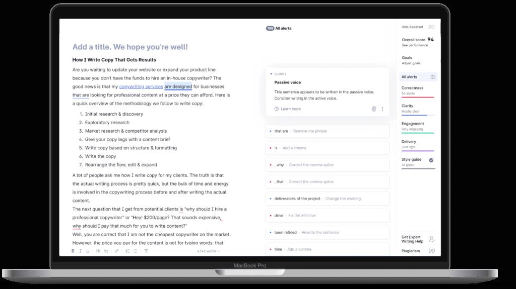 content optimization tools grammarly strategybeam