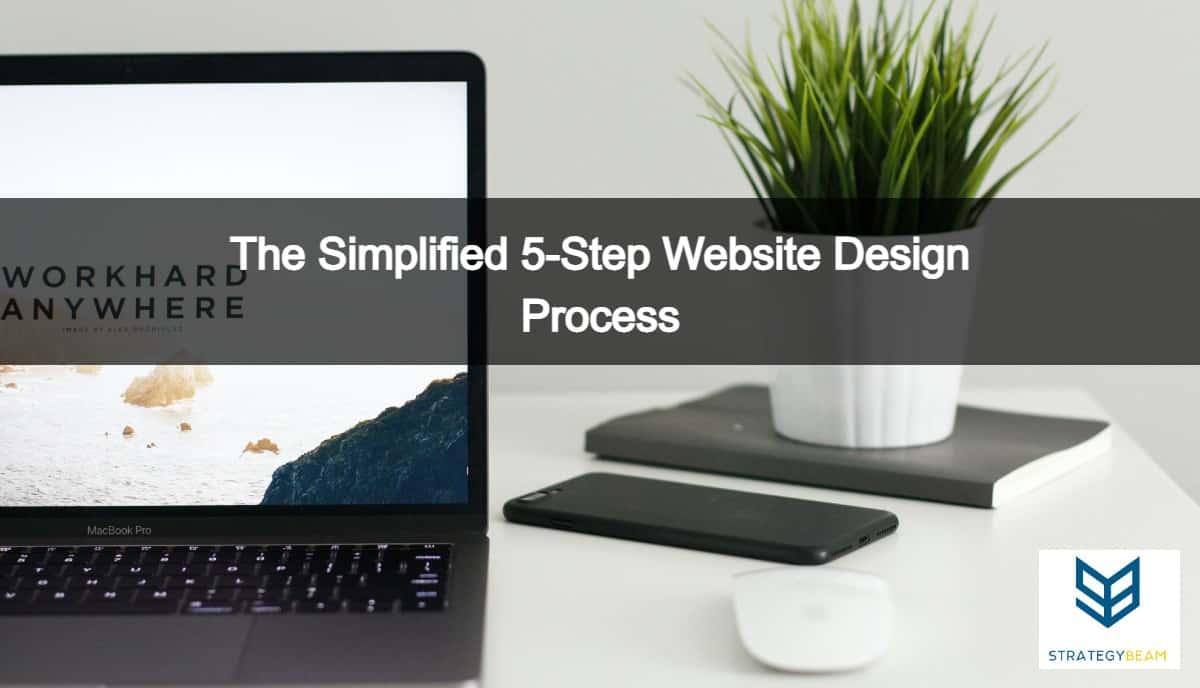 website design process 5 steps