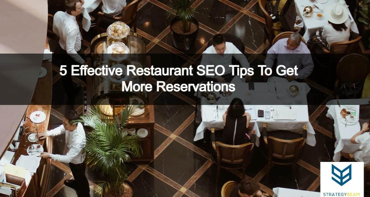5 effective restaurant seo tips reservations