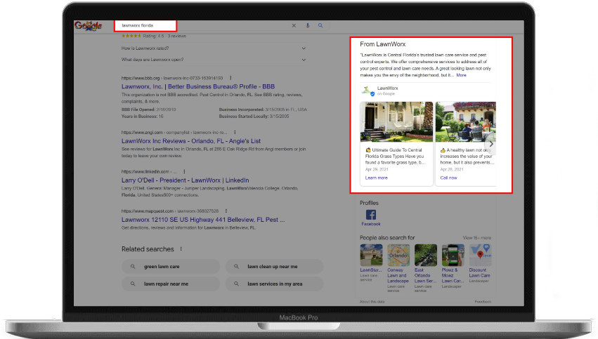 lawn care marketing ideas google my business posts