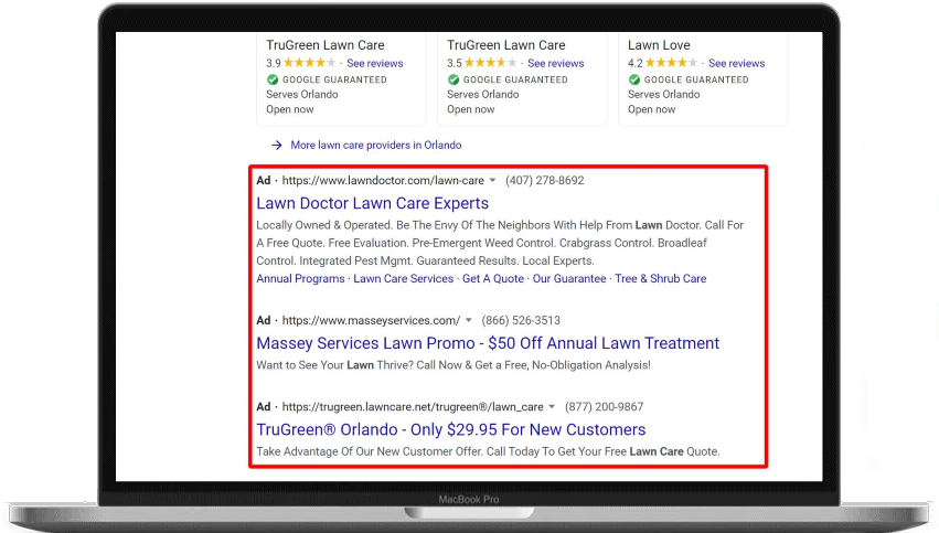 lawn care marketing ideas paid search ads lawn care marketing