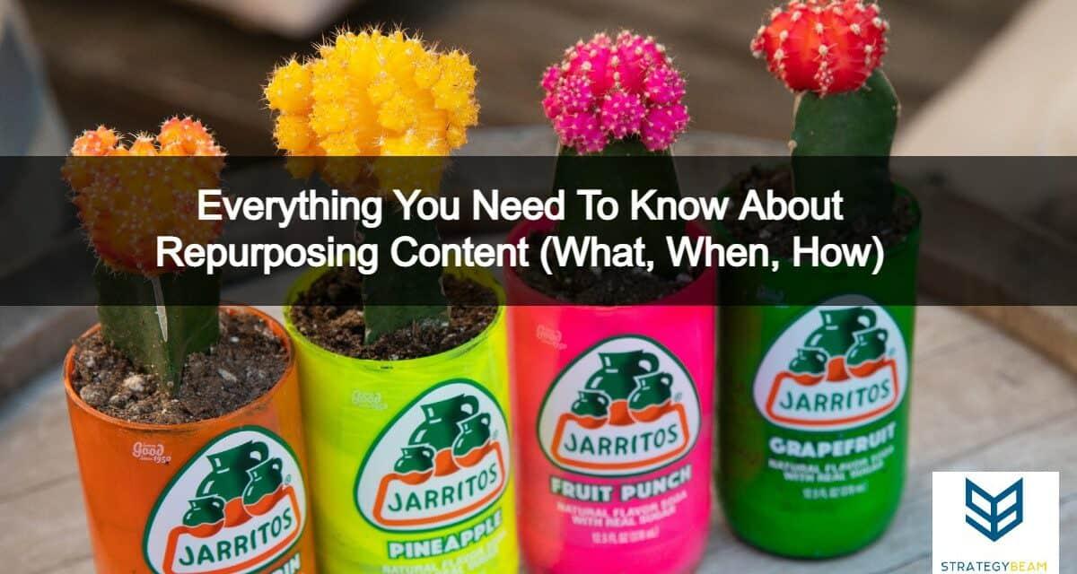 repurposing content repurpose content content marketing strategy